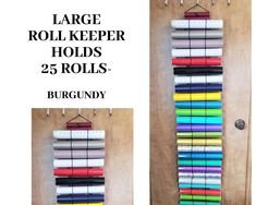 Vinyl Roll Storage.Diamond Painting Storage,The Roll Keeper,Black Deluxe,48 Roll