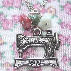 Sewing machine necklace <3