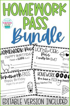 Homework Pass, Classroom Management Techniques, Classroom Community, Colored Paper, Special Day, Back To School, Texts, Card Stock, Ink