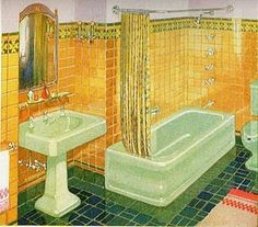 ... for me a sunny yellow 1930s bathroom it looked very familiar to me so