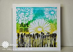Some fiddling on the kitchen table: New Art Journey Stamps #1