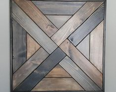 Weave Pattern Wood Wall Art is part of Rustic wood wall art - Contemporary and Rustic Weave pattern wood wall art Hand Crafted and fully framed made to order and available in your cho