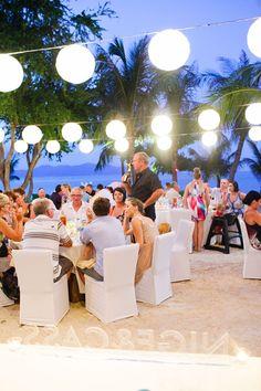 A wedding on the beach! // A Destination Wedding in Thailand at the W Retreat Koh Samui, Karen Buckle Photography #beachwedding #destinationwedding