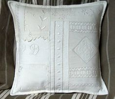 Nice to Use my collection of Old Laces and Lace Garments to make a similar Pillow.