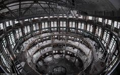 Sweet history: The Occulus Tower, in the Lombardy region of Italy, was once used to refine sugar, but has been stripped and left as just a s...
