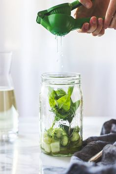 The Bojon Gourmet: Sangría Verde {with Vinho Verde, Cucumber, Melon, Mint, Basil + Lime}
