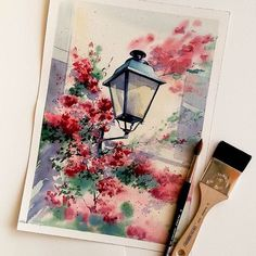 Watercolor art by nadja. Watercolor Drawing, Watercolor Illustration, Painting & Drawing, Watercolor Paintings, Oil Paintings, Painting Illustrations, Drawing Drawing, Watercolor Artists, Painting Lessons