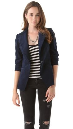 Bop Basics The Fiance Velvet Blazer
