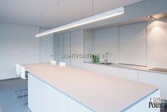 verlichting kookeiland - Google zoeken First Home, Interior Lighting, Home Kitchens, Home Furnishings, Home Office, Kitchen Design, House Plans, Sweet Home, Kitchen Cabinets