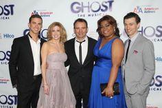 Ghost Opening Night: Richard Fleeshman, Caissie Levy, Matthew Warchus, Da'Vine Joy Randolph and Bryce Pinkham