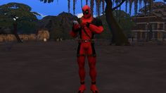 Deadpool Costume by G1G2 at SimsWorkshop via Sims 4 Updates