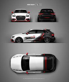 Vehicle Signage, Cool Car Drawings, Racing Car Design, Van Design, Audi Cars, Car Tuning, Car Brands, Car Painting, Rally Car