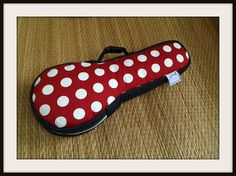 SALE - The Red - Red and White Polka dot Ukulele Case (Soprano size) Ready to ship on Etsy, $29.95