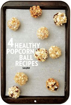 These healthy homemade popcorn ball recipes are sure to slay at your Halloween party!