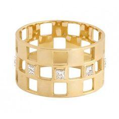 Bague 3 rangs en or et diamants Charlet vu dans la presse à retrouver sur Selectionnist.com