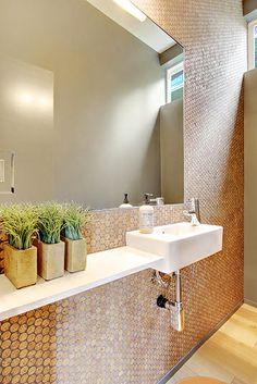 CorkDotz Mosaic Penny Round Tile of water resistant sealed 1x1 round cork, for kitchen backsplash, bathroom tile, or floor tile