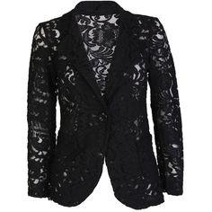 Black Lace Blazer (1.900 RUB) ❤ liked on Polyvore featuring outerwear, jackets, blazers, coats, checkered blazer, lace jacket, lace blazer jacket, checkered jacket and blazer jacket