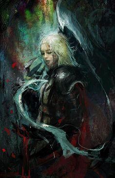 Manon... Source: http://muju.deviantart.com/art/Crusader-Death-s-duet-colour-test-439046934