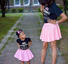 Mommy and me....pink skirts are everything