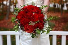 Red Wedding Bouquets on WeddingWire