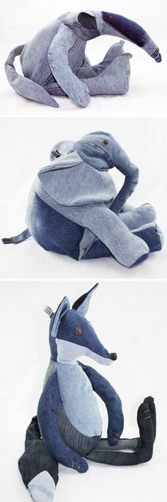 Myriam Mense -- stuffed animals from old denim More