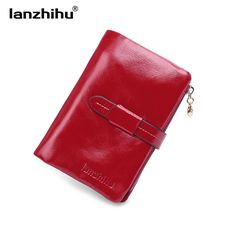 Check it on our site 100% Women Genuine Leather Wallet Short Small Oil Wax Cowhide Purse Women's Vintage Lady Leather Clutch Coin Purses Card Holder just only $18.00 with free shipping worldwide  #womanwallets Plese click on picture to see our special price for you
