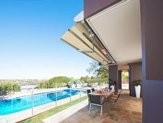 Sunrain Awnings - The exclusive LUXAFLEX® SUNRAIN® Awning provides protection from the elements, rain or shine.