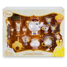 Disney Store Beauty and the Beast ''Be Our Guest'' Singing Tea Cart Play Set Beauty And The Beast Bedroom, Beauty And The Beast Party, Disney Beauty And The Beast, Lumiere Beauty And The Beast, Beauty Beast, Little Girl Toys, Toys For Girls, Kids Toys, Wood Centerpieces