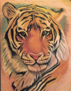 Tiger Tattoos For Women | Tiger Face Tattoo 01