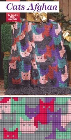 Crochet Cat Pattern Blanket Pinterest Ideas