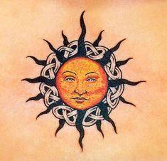 65 free sun tattoo designs + the meaning of sun tattoos. Designs include: tribal suns, sun and moon tattoos, Godsmack sun tattoo, . Celtic Tattoo For Women, Celtic Tattoos, Tattoos For Women, Simple Sun Tattoo, Sun Tattoo Tribal, Tattoo Sonne, Sun Tattoo Designs, Sun Designs, Celtic Tribal
