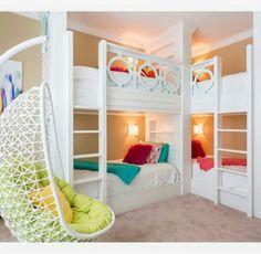 Love the colours   quadruple  bedroom  set