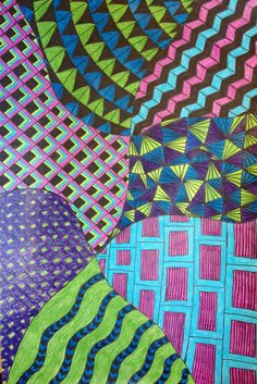 Zentangle patterns for kids