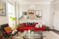 25 Of The Most Beautiful Spaces We Saw In 2015 #refinery29  http://www.refinery29.com/most-beautiful-spaces-2015#slide-5  Becca and Whit Bull's midcentury-modern masterpiece in Brooklyn....