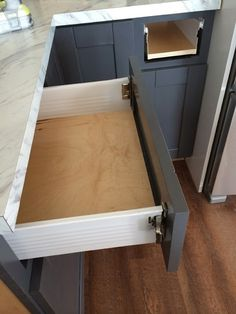 drawer slides that are the sides of your drawer too - easier to make and install