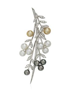 TIFFANY & CO. CULTURED PEARL AND DIAMOND FOLIATE BROOCH Cheap Jewelry, Cute Jewelry, Pearl Jewelry, Antique Jewelry, Jewelery, Vintage Jewelry, Antique Rings, Jewelry Necklaces, Pearl Diamond