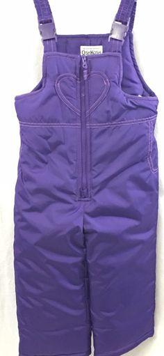 New Oshkosh b'gosh Toddler Girls Grape Purple Snowsuit Overall Ski Bib Size 4T #OshKoshBgosh #Snowsuit #Everyday