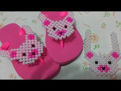 YouTube Flip Flops Diy, Crochet Shoes, Crochet Slippers, Shoe Makeover, Girls Dresses Sewing, Decorating Flip Flops, Beaded Shoes, Shoe Pattern, Beaded Ornaments
