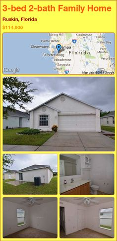 3-bed 2-bath Family Home in Ruskin, Florida ►$114,900 #PropertyForSale #RealEstate #Florida http://florida-magic.com/properties/14956-family-home-for-sale-in-ruskin-florida-with-3-bedroom-2-bathroom