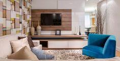 Neste apartamento, localizado em Santo André, a arquiteta Daniela Inês, a pedido dos moradores, criou um ambiente alegre, confortável e moderno.