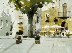Risultati immagini per john yardley Watercolor Trees, Watercolor Sketch, Watercolor Artists, Watercolor Landscape, Watercolor Illustration, Watercolor Paintings, Watercolours, Watercolor Architecture, Great Paintings