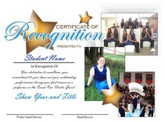 Make your award certificates a keepsake!