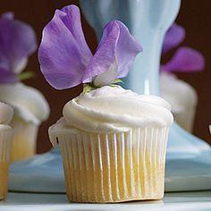 White Sweetpeas on cupcakes...