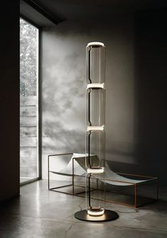 For Sale on 1stDibs - The brainchild of master designer Konstantin Grcic, Noctambule by Flos is a futuristic lighting system that blends innovation, efficiency and aesthetics. Futuristic Lighting, Luxury Lighting, Modern Lighting, Led Floor Lamp, Modern Floor Lamps, Cool Floor Lamps, Led Stripes, Luxury Flooring, Metal Table Lamps