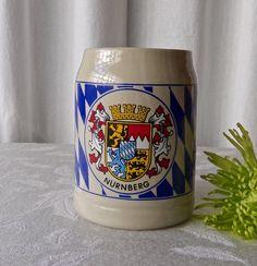 Vintage Stoneware Traditional Beer Mug Nurnberg Germany
