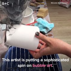 This is SO memorizing. ceramic art This Artist Takes Bubble Art To the Next Level Fun Crafts, Diy And Crafts, Arts And Crafts, Creative Crafts, Ceramic Pottery, Ceramic Art, Glazed Pottery, Ceramic Painting, Clay Projects