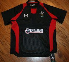 Wales Rugby Union Admiral Jersey Under Armour Heat Gear Cymeriad Mens Medium NWT #UnderArmour