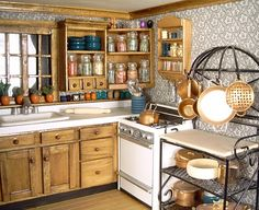 A dollhouse kitchen??  Hard to believe...