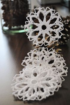 Christmas ornamentsCrochet snowflakeWinter Hanging by UpRo on Etsy