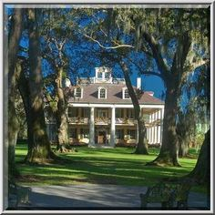 Houma Plantation, view from River Road. Darrow, Louisiana, December 23 ...